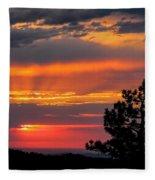 God's Spotlight Over Keystone Fleece Blanket