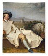 Goethe In The Roman Campagna Fleece Blanket