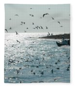 Going Fishing Fleece Blanket