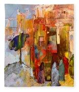 Going To The Medina In Morocco Fleece Blanket