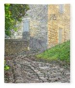 Going Up The Lane In Beynac Digital Print Fleece Blanket