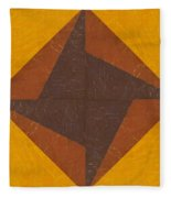 Gold And Brown Pinwheel Fleece Blanket