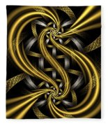 Gold And Silver Fleece Blanket