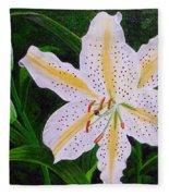 Gold Band Lily Fleece Blanket