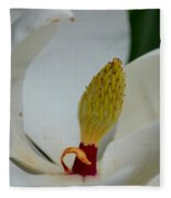 Gold Centered Magnolia Fleece Blanket