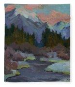 Gold Creek Snoqualmie Pass Fleece Blanket
