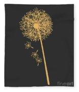 Gold Dandelion Fleece Blanket