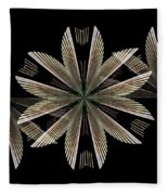 Gold Floral Abstract Fleece Blanket
