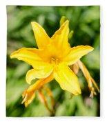 Gold Flower Fleece Blanket