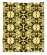Gold Metallic 16 Fleece Blanket