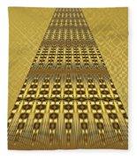 Gold Metallic 9 Fleece Blanket