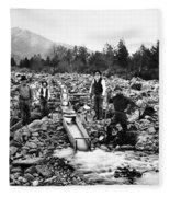 Gold Mining Claim C. 1890 Fleece Blanket