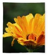 Gold Petals Fleece Blanket