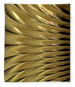 Gold Ridges Fleece Blanket