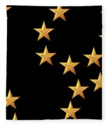 Gold Stars Abstract Triptych Part 2 Fleece Blanket