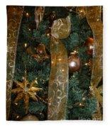 Gold Tones Tree Fleece Blanket