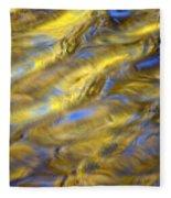 Gold Waters Fleece Blanket