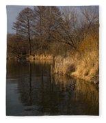 Golden Afternoon Reflections Fleece Blanket