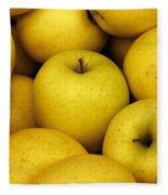 Golden Apples Fleece Blanket