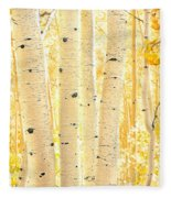 Golden Aspens Utah Fleece Blanket
