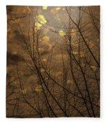 Golden Autumn Abstract Sky Fleece Blanket