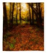 Golden Autumn  Fleece Blanket