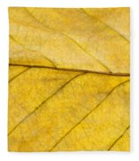Golden Beech Leaf Fleece Blanket