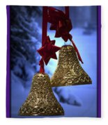 Golden Bells Purple Greeting Card Fleece Blanket