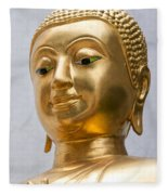 Golden Buddha Statue Fleece Blanket
