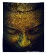 Golden Buddha Fleece Blanket