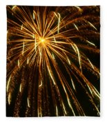 Golden Burst Fleece Blanket