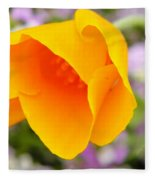 Golden California Poppy Fleece Blanket