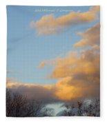 Golden Cascade Fleece Blanket