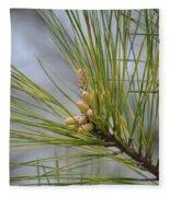 Golden Catkins Of The Great Pine Fleece Blanket