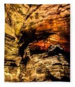 Golden Caverns Fleece Blanket