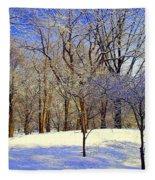 Golden Central Park Fleece Blanket