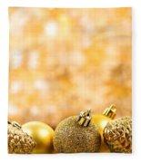 Golden Christmas  Fleece Blanket