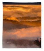 Golden Clouds Fleece Blanket