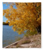 Golden Cottonwoods Fleece Blanket