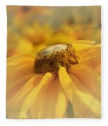 Golden Crown - Rudbeckia Flower Fleece Blanket