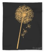 Golden Dandelion Fleece Blanket
