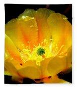 Golden Desert Flower Fleece Blanket