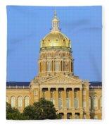 Golden Dome Of Iowa State Capital Fleece Blanket