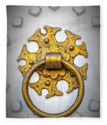 Golden Door Knocker Vignette Fleece Blanket