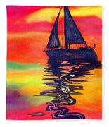 Golden Dreams Fleece Blanket