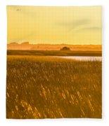 Golden End Of Day  Fleece Blanket