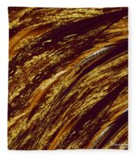 Golden Falls Fleece Blanket