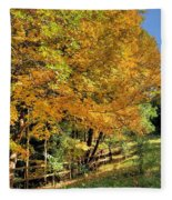Golden Fenceline Fleece Blanket
