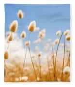 Golden Field Fleece Blanket