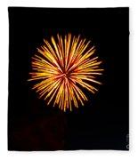 Golden Fireworks Flower Fleece Blanket